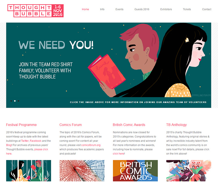 thought bubble event website