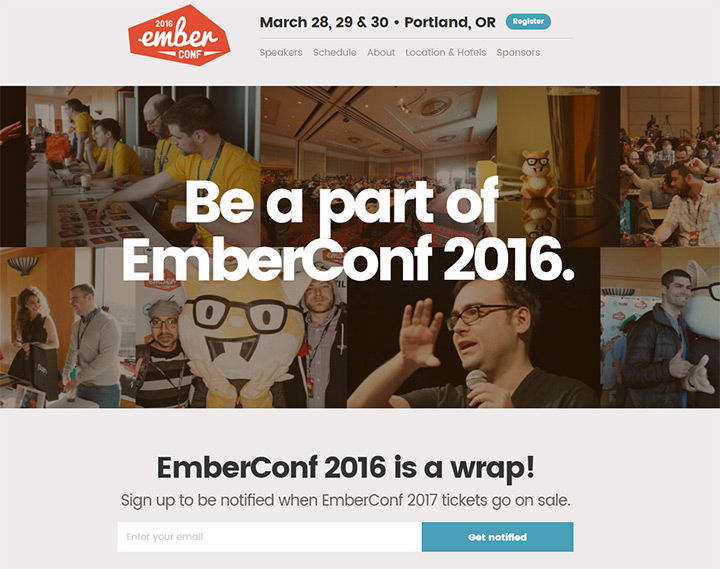 ember conference website layout