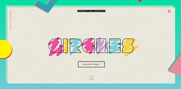 circles conference website design