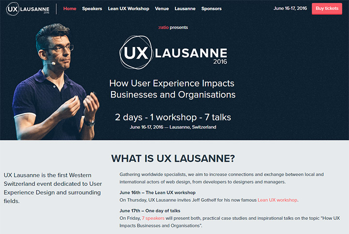 ux lausanne website 2016