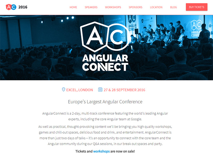 angular connect conference website