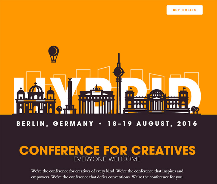 hybrid conf website design