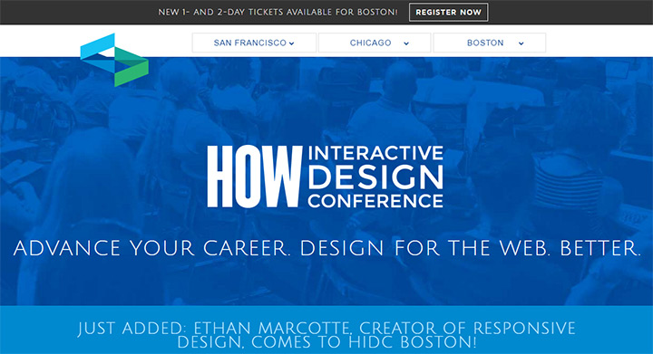 how interactive conference website
