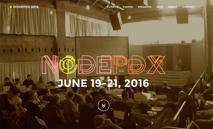 node pdx conference website