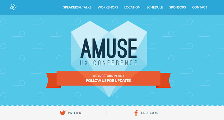 amuse ux conference website