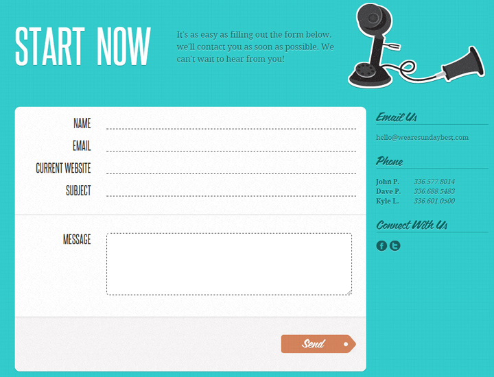 100+ Contact Form Pages for Design Inspiration