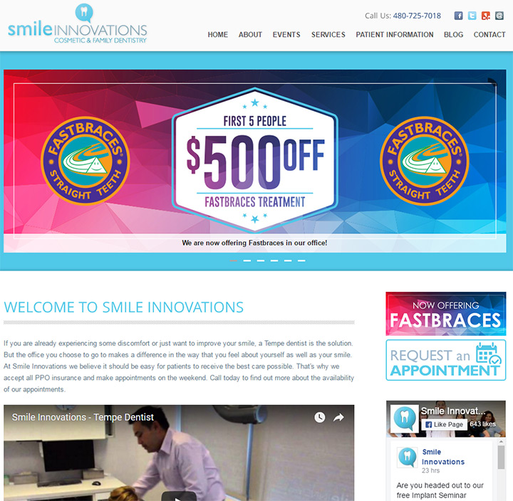 smile innovations homepage
