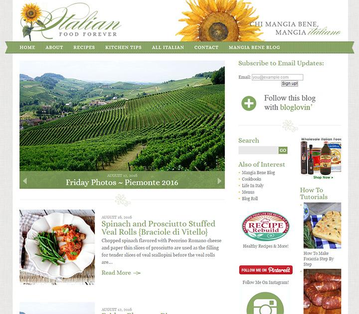 italian food forever blog