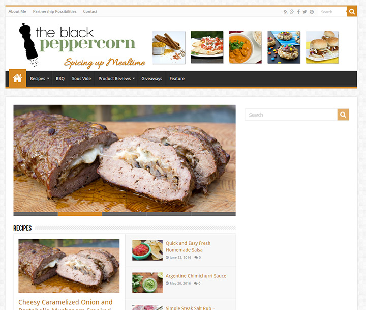 black peppercorn homepage