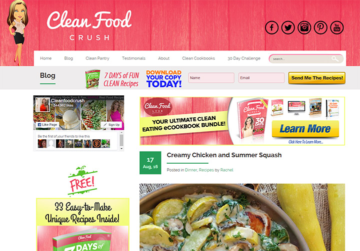 clean food crush blog