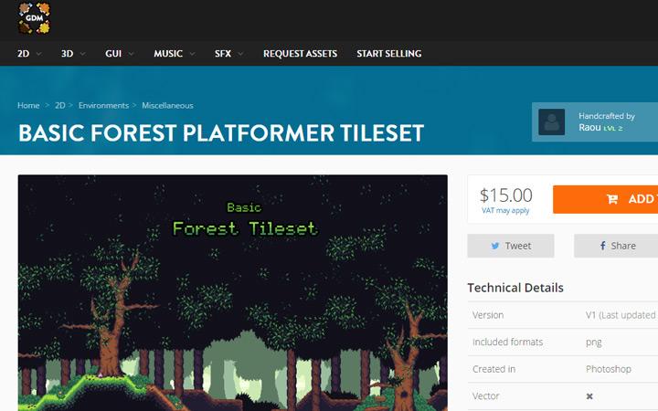 gamedev market forest assets