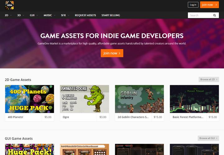 GameDev Market homepage