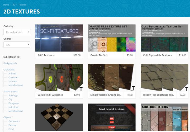 textures 2d assets gallery gamedev market