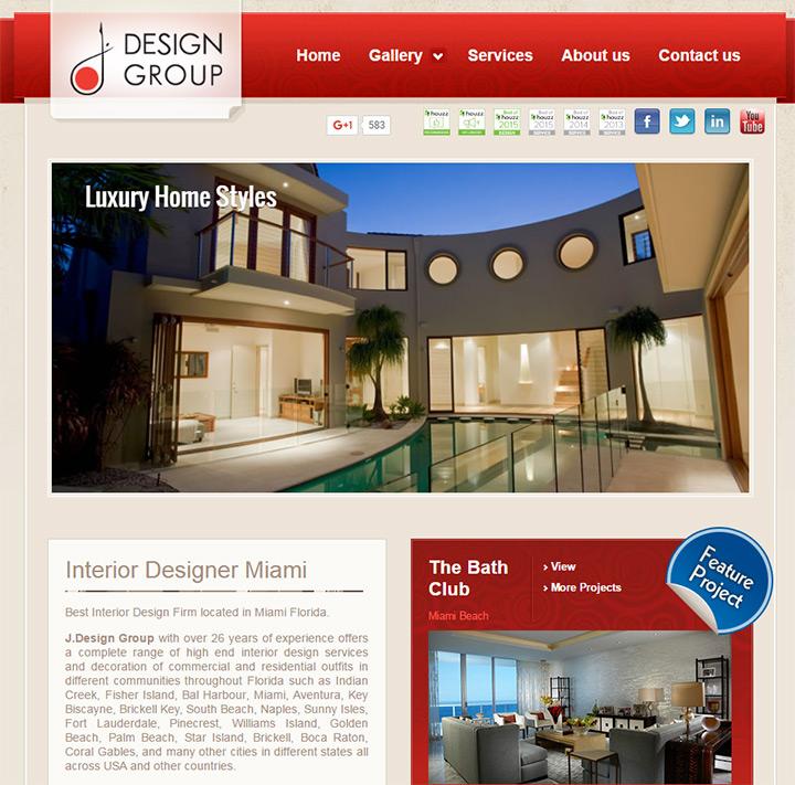 j design group - Interior Design Web Pages