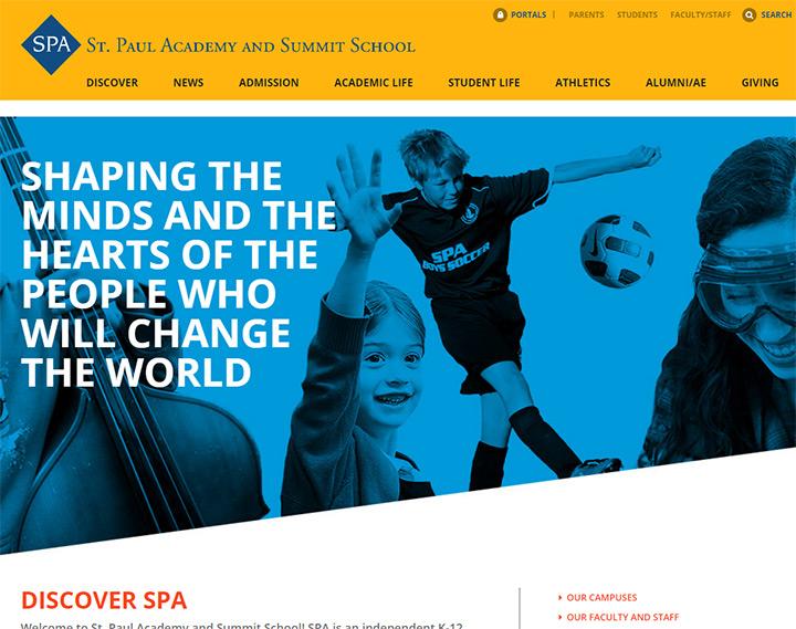 st paul academy homepage