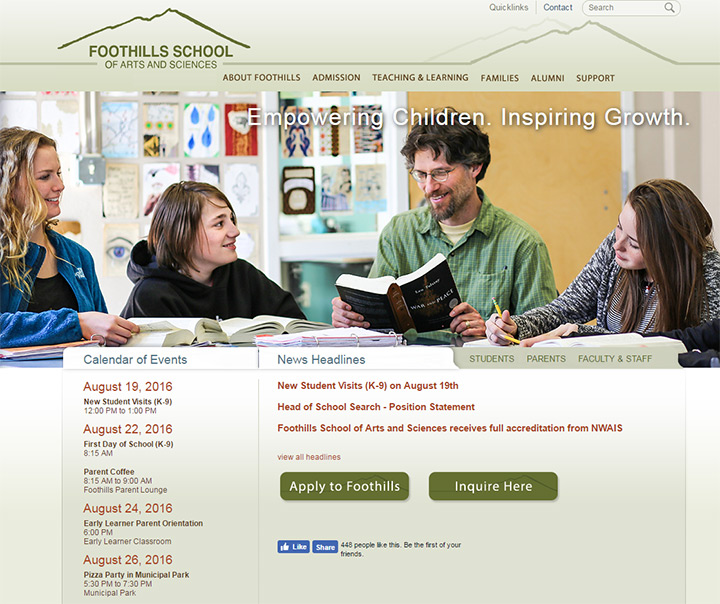 foothills school art science