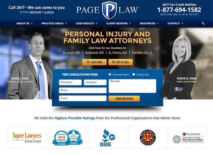 page law firm website