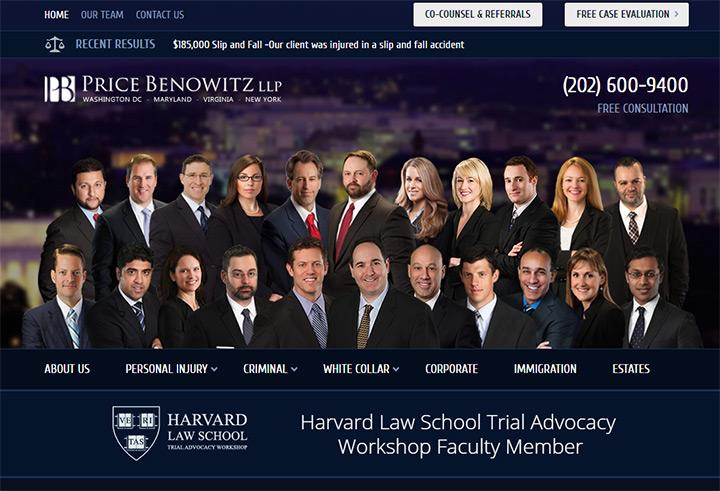 price benowitz law firm webiste