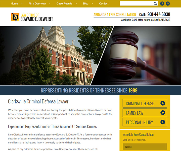 edward dewerff website law