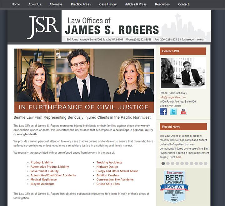 james s rogers law website
