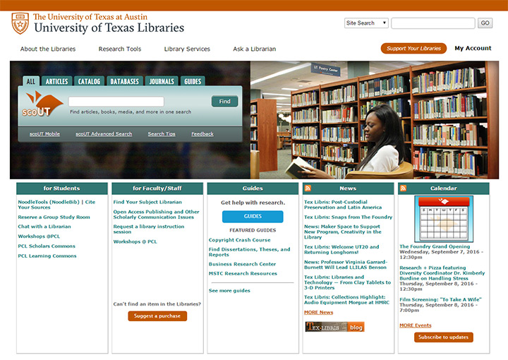 univrsity of texas library