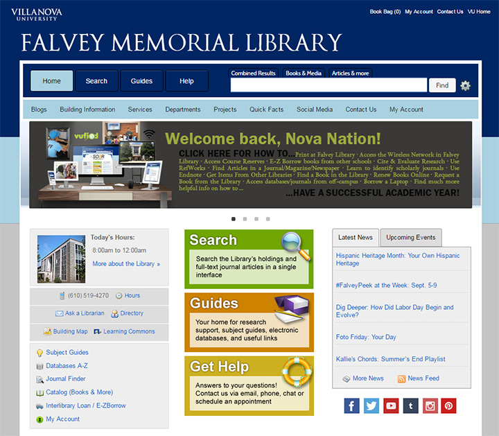falvey memorial library