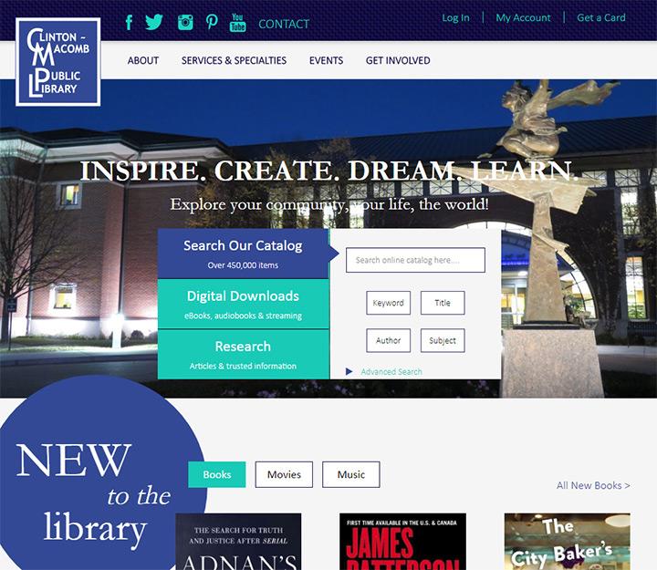 clinton macomb library