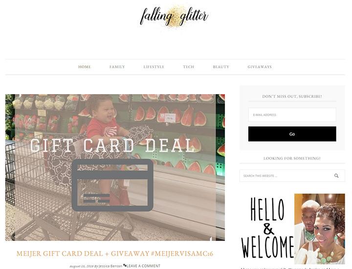 falling glitter blog