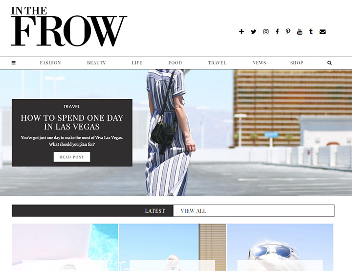 in the frow blog