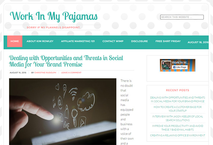 work in my pajamas blog
