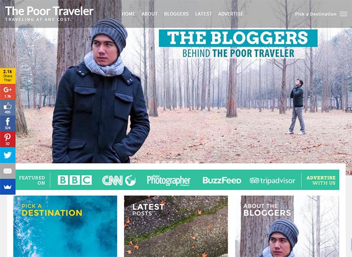 poor traveler blog