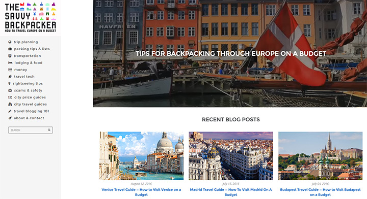 savvy backpacker blog