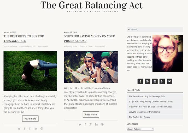 great balancing act blog