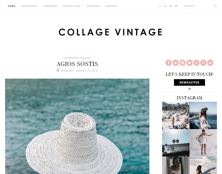collage vintage blog