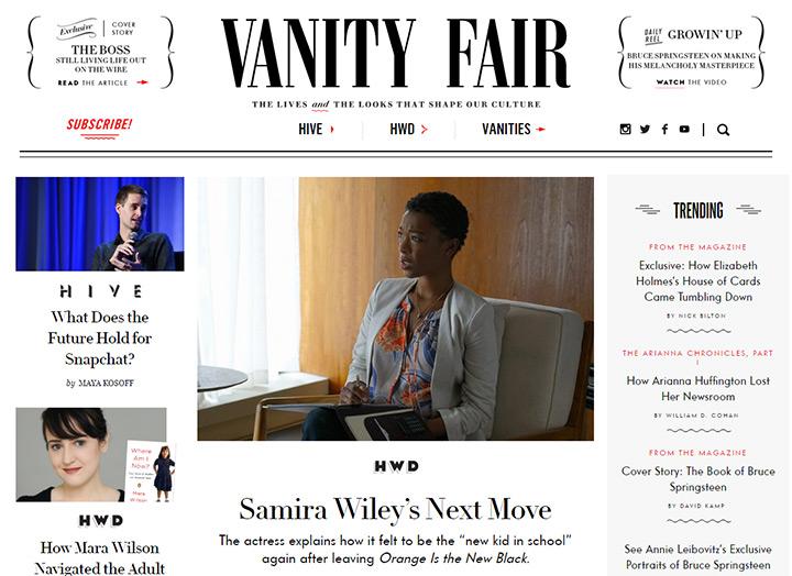 vanity fair blog