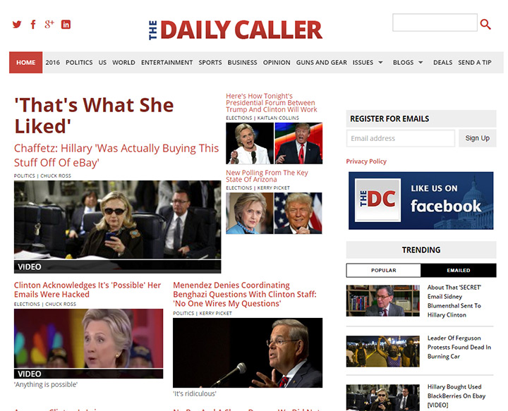 daily caller blog