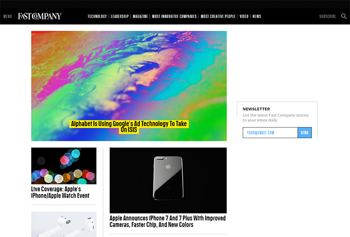 fast company homepage