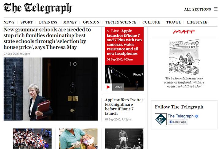 telegraph blog