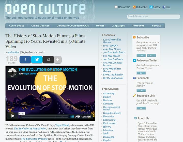 open culture blog