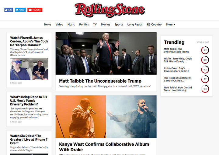 rolling stone homepage