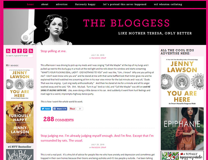 the bloggess blog