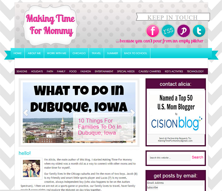making time for mommy blog