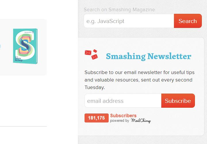 100+ E-mail Newsletter Signup Form Designs for Inspiration