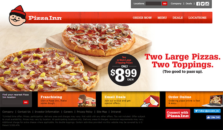pizza inn website