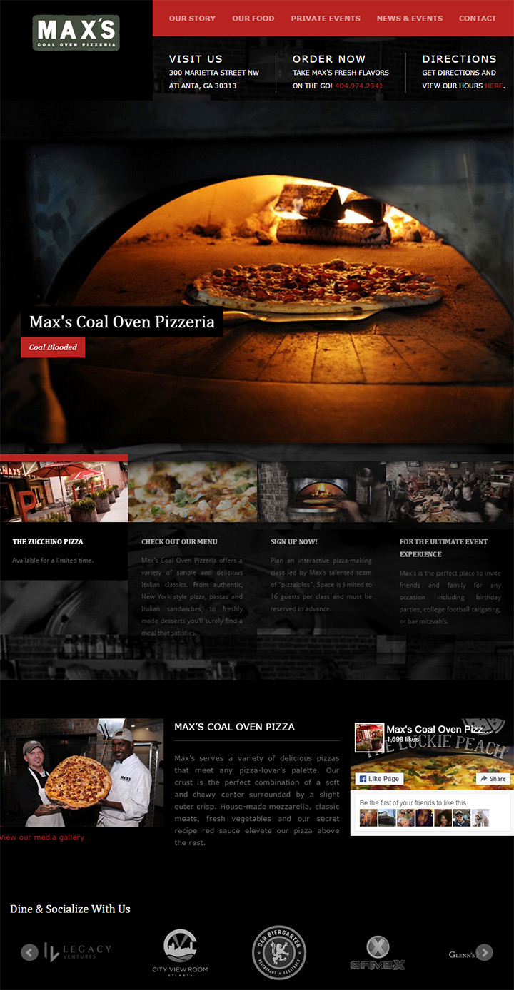 max coal oven pizza
