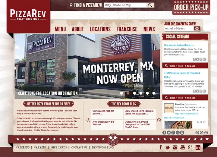 pizzarev homepage