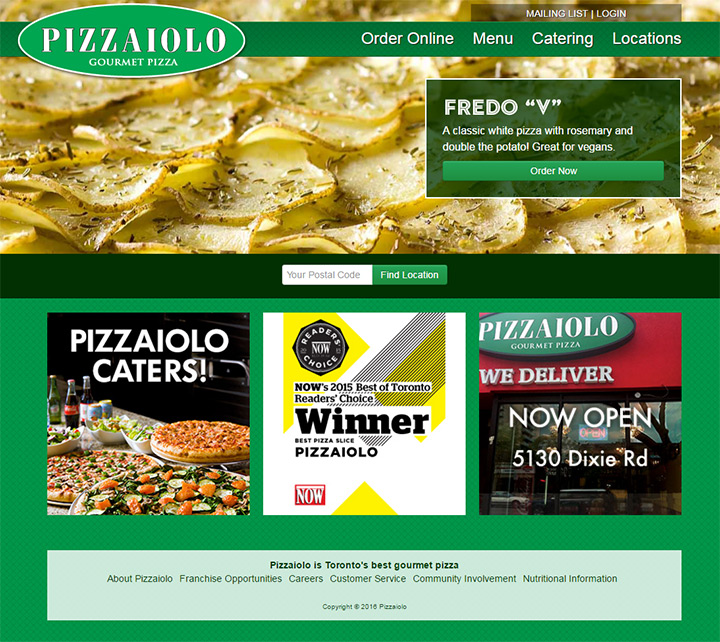 pizzas website