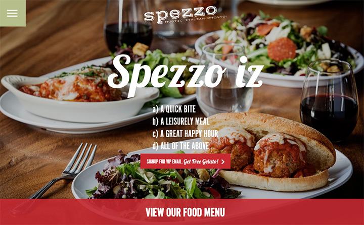 spezzo italian food