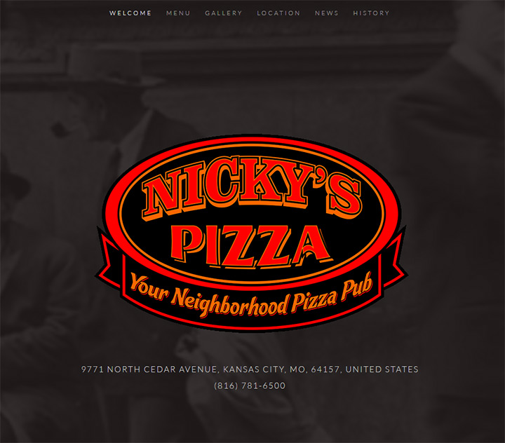 nickys pizza homepage