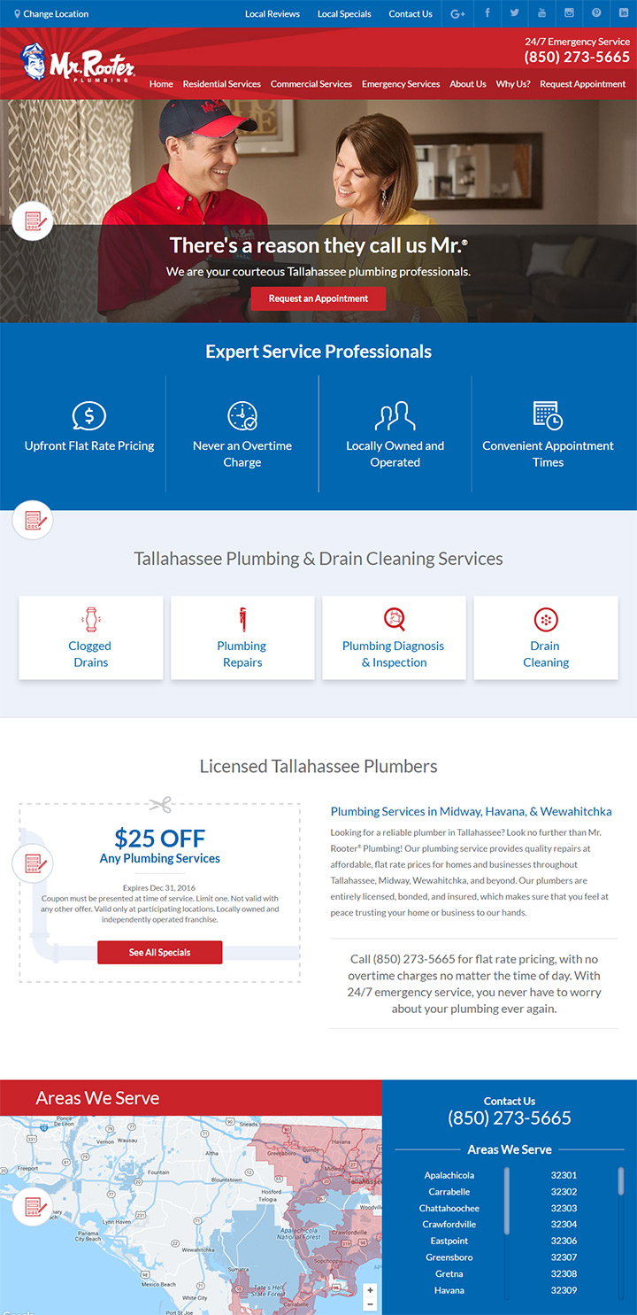 mr rooter plumbing website